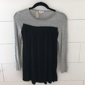 Pintucked modal knit top